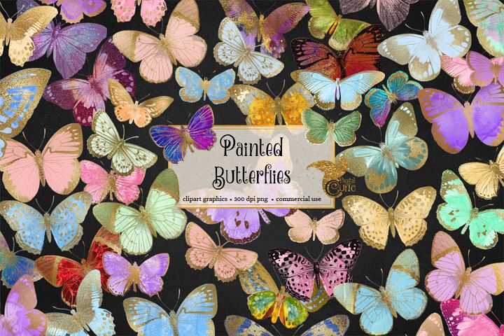 Painted Butterfly Clipart example 3