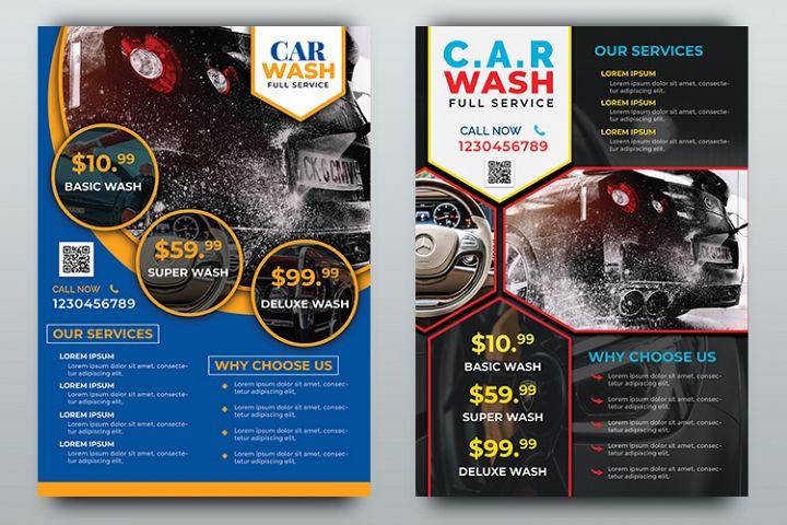 Car Wash Flyer Templates