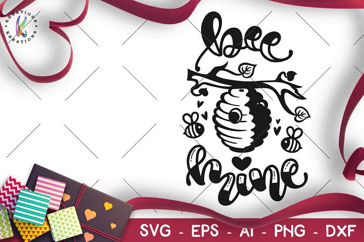 Be Mine svg valentines day Bee hive