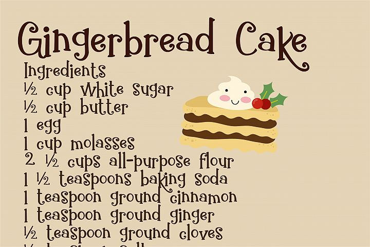 ZP Gingerbread Cake - Free Font of The Week Design3