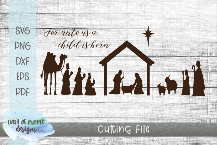 Nativity Scene SVG - Manger SVG - Religious Christmas SVG