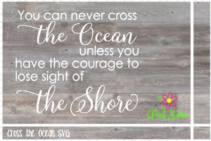 Cross the Ocean SVG