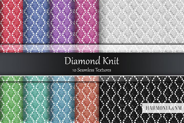Diamond Knit 10 Seamless Textures