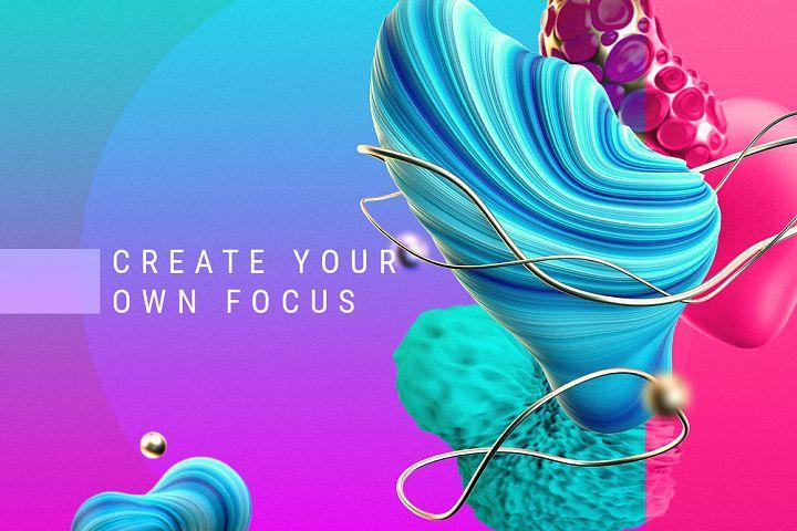 Focus / Set of graphic elements