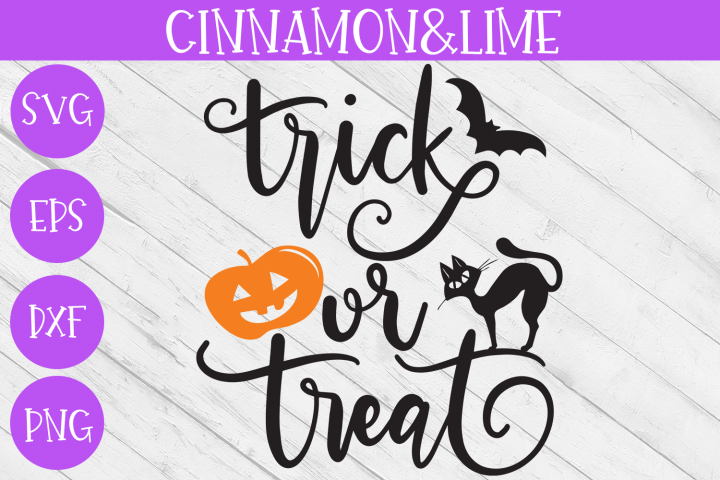 Halloween SVG - Trick or Treat - Wood Sign Hand-Lettered
