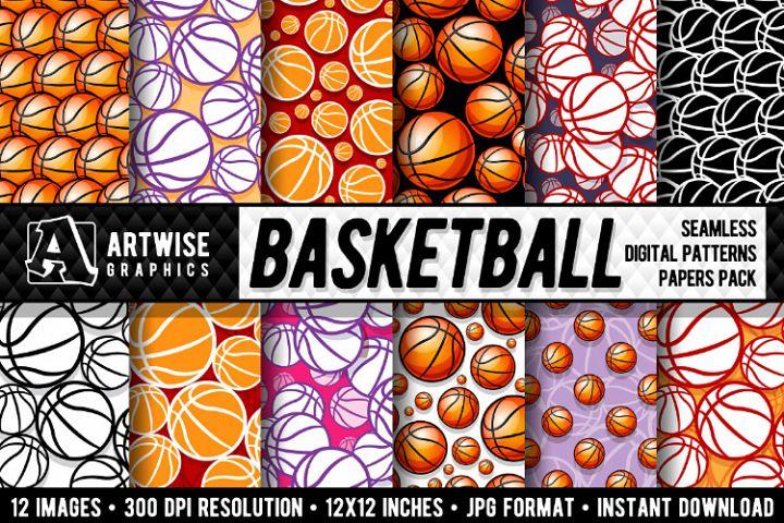 Basketball Digital Paper Graphics