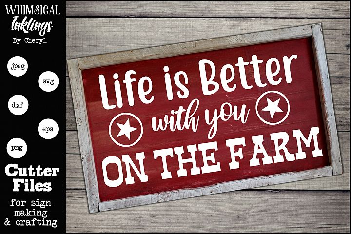 With You On The Farm SVG