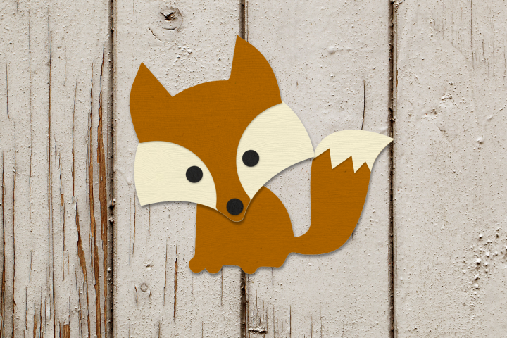Cute Fox SVG File Cutting Template