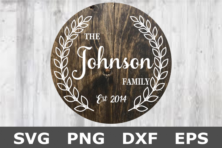 Laurel Name Sign - A Family SVG Cut File