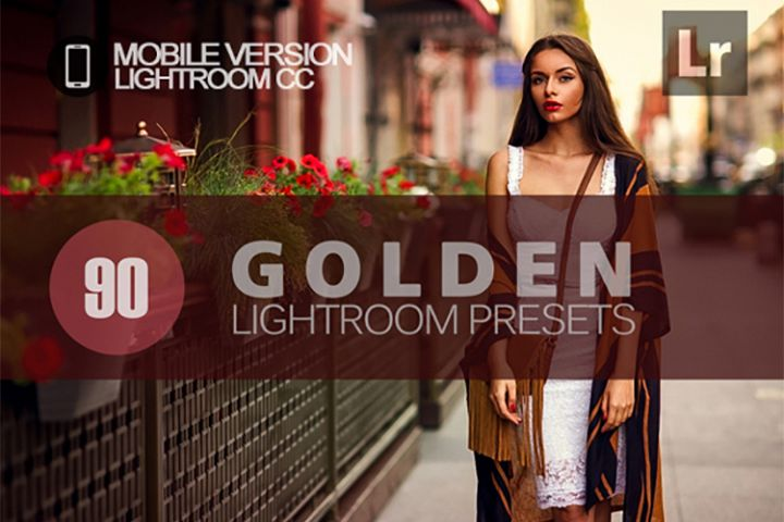 90 Golden Lightroom Mobile bundle Presets