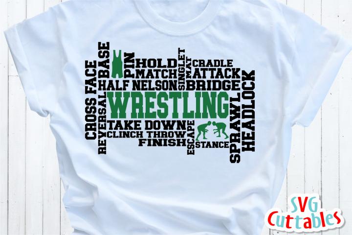 Wrestling Word Art | Cut File