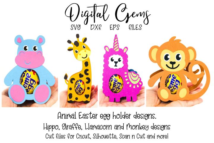 Animal egg holder designs SVG / DXF / EPS files