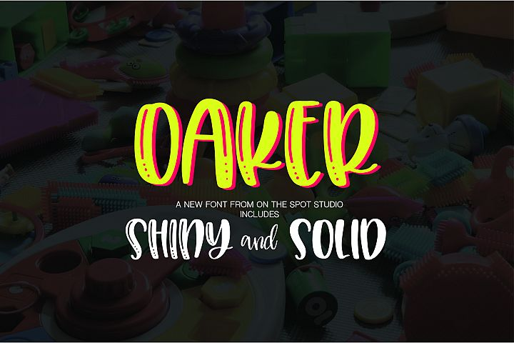 Oaker - Shiny & Solid - Free Font of The Week