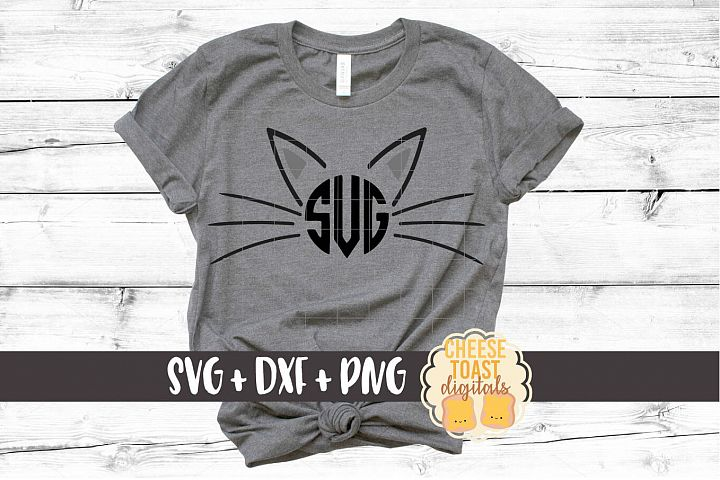 Cat Monogram Frames - Halloween SVG PNG DXF Cut Files