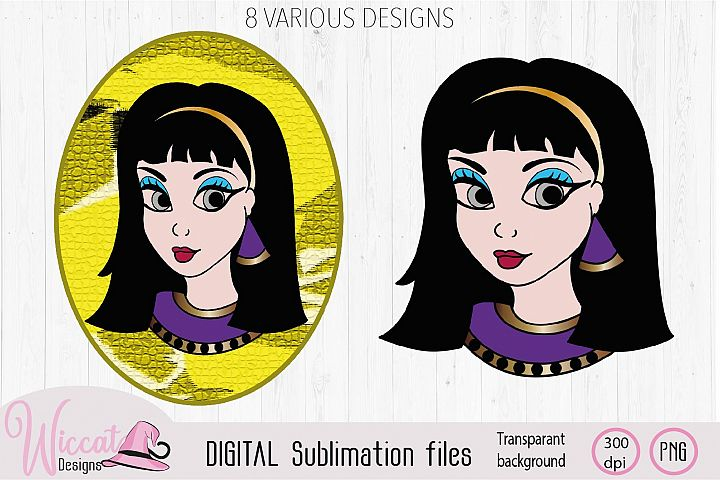 Cleopatra Girl face sublimation