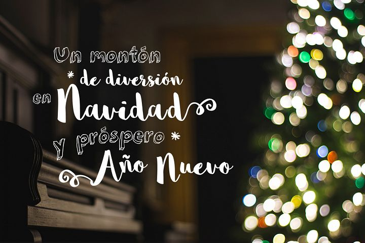 Spanish Christmas Photo Overlays
