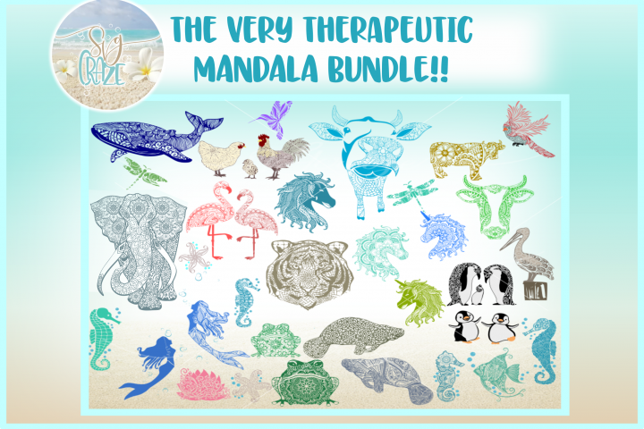 The Very Therapeutic Mandala SVG Bundle