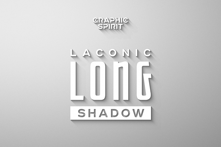 Laconic Long Shadow for Photoshop example