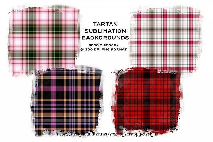 Tartan Sublimation Backgrounds