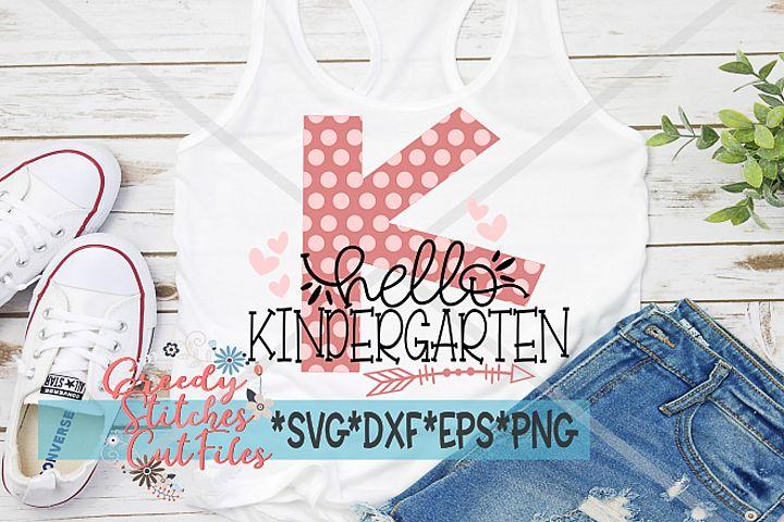 Hello Kindergarten SVG DXF EPS PNG