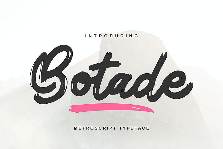 Botade | Metroscript Typeface Font