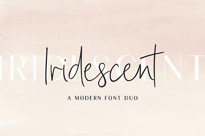 Iridescent | A Modern Font Duo