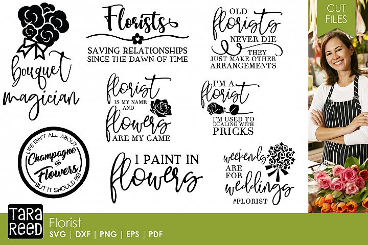 Florist SVG and Cut Files for Crafters