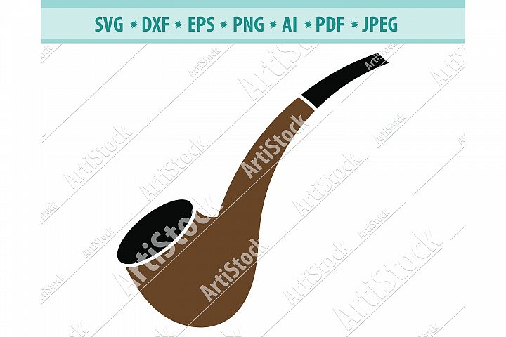 Tobacco Pipe SVG, Smoking Pipe Svg, Tobacco Dxf, Png, Eps