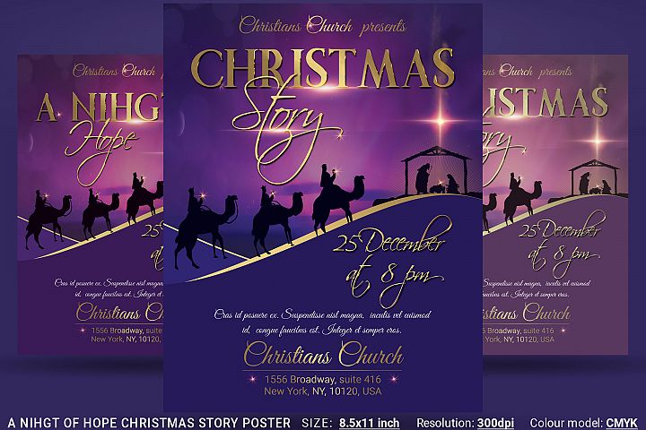 A Nihgt Of Hope Christmas Story Flyer Poster