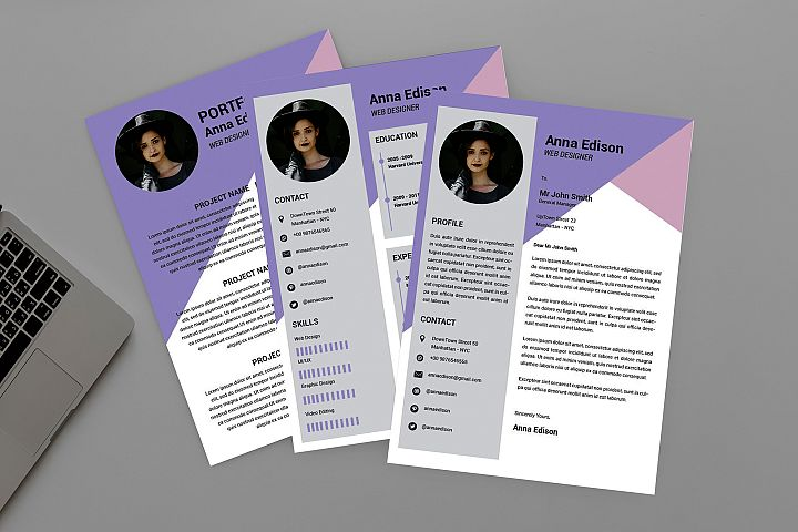 CV Purple Resume Designer