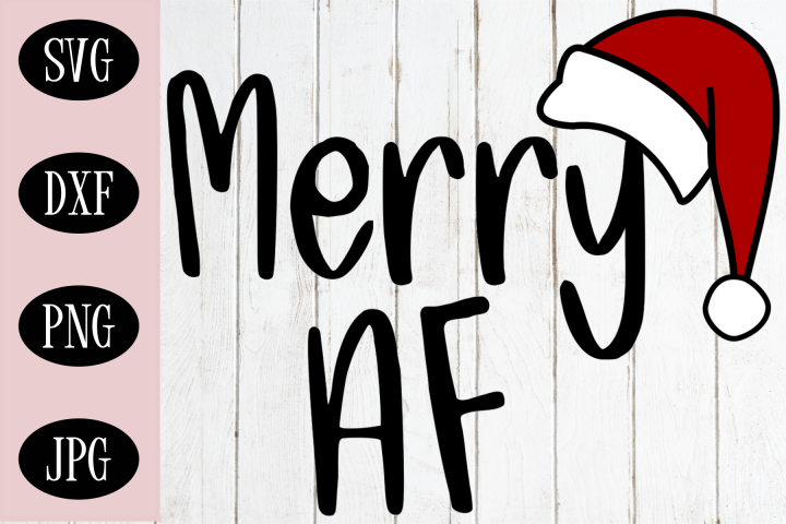 Christmas SVG | Merry AF SVG