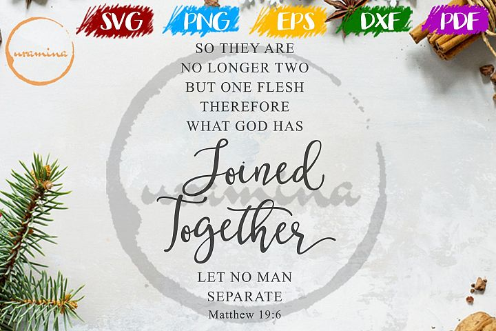 So They Are No Longer Two Wedding SVG PDF PNG