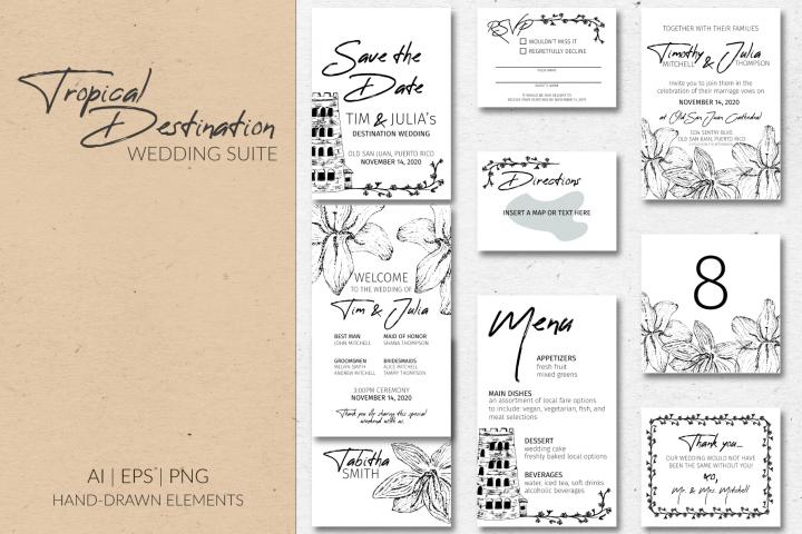 Tropical Destination Wedding Suite