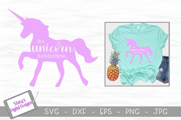 Unicorn SVG - Be a unicorn in a field of horses example 1