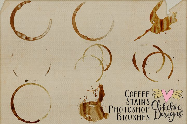 Coffee Stains Photoshop Brushes - Free Design of The Week Design0