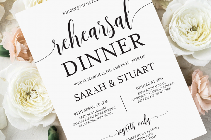 Rehearsal Dinner Invitation, Printable Wedding Dinner