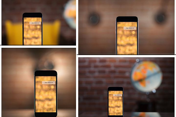 Set from 4 iPhone mockups