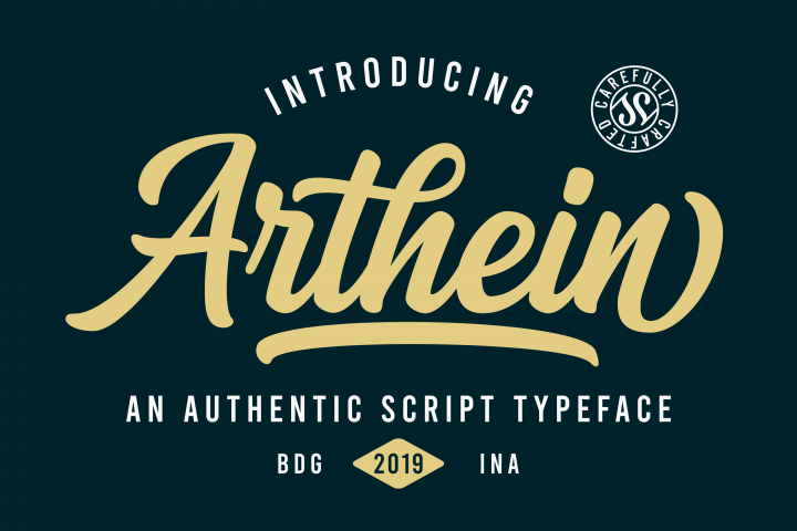 Arthein - Free Font of The Week
