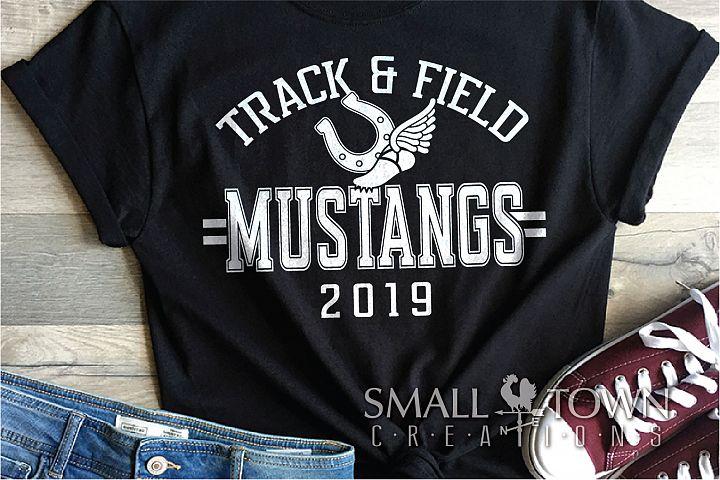Mustangs Track and Field, mustang mascot, PRINT, CUT, DESIGN