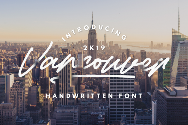 Vancouver - Handwritten Font