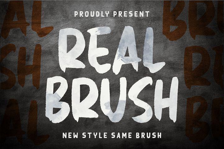 Real Brush Font