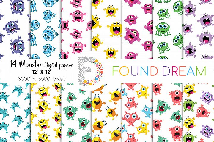 Monster Digital papers | Wrapping Papers