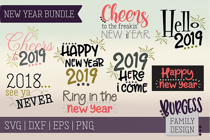 FLASH SALE! New Year Bundle | SVG DXF EPS PNG