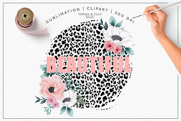 Beautiful Leopard Print Background - Sublimation PNG Clipart