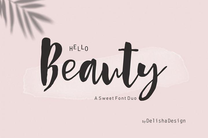 Hello Beauty Script Font Duo