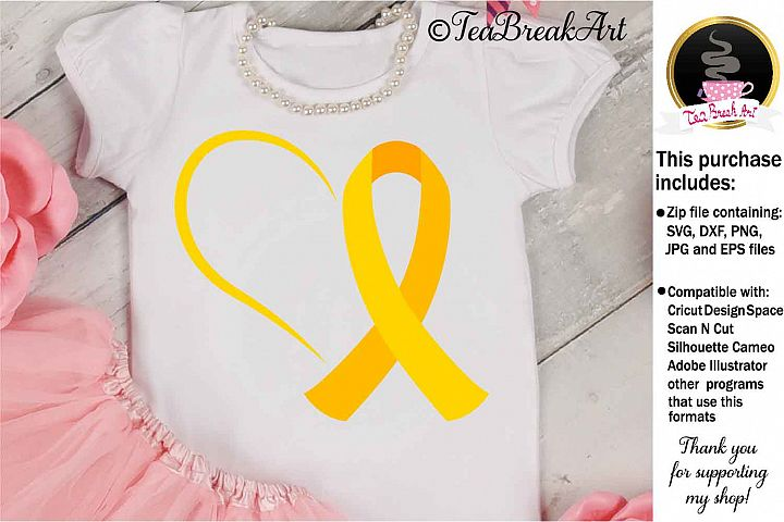 Childhood Cancer Awareness Cutting Files 1078