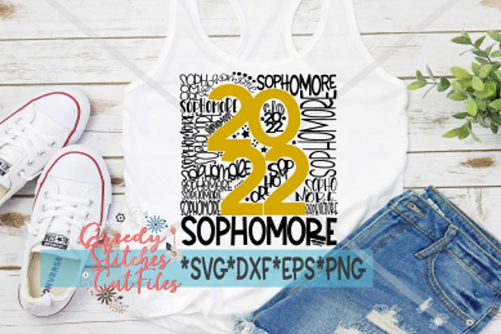 Sophomore SVG | Class of 2022 SVG DXF EPS PNG