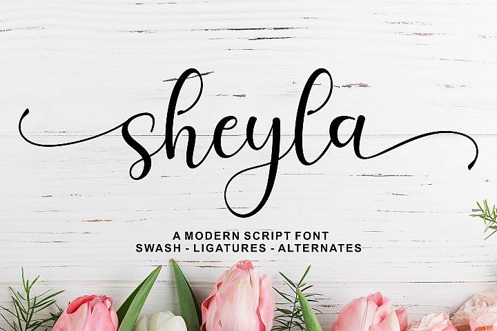 Sheyla Modern Script