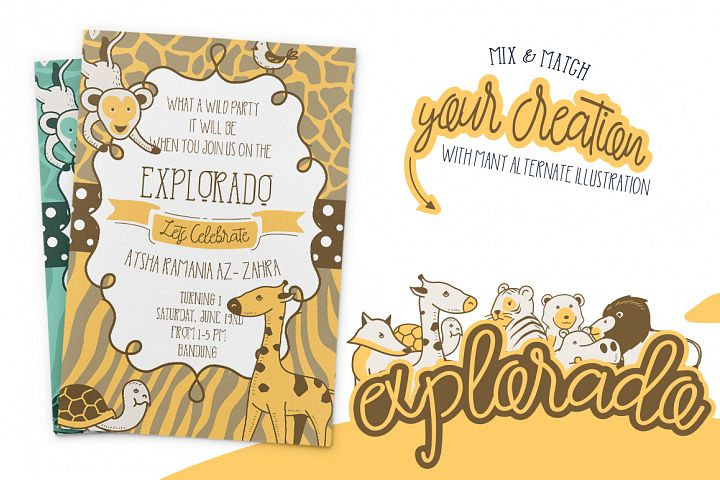 Explorado Typeface  - Free Font of The Week Design 1