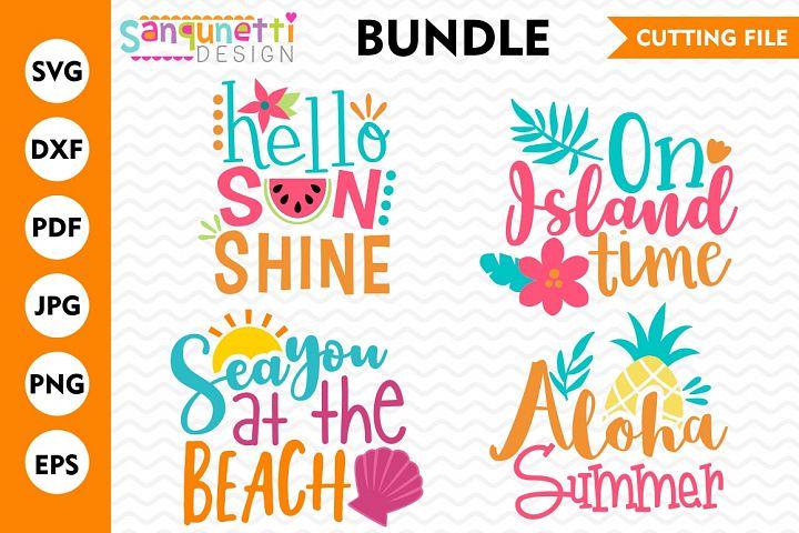 Summer Bundle, SVG Bundle, DXF, cutting file